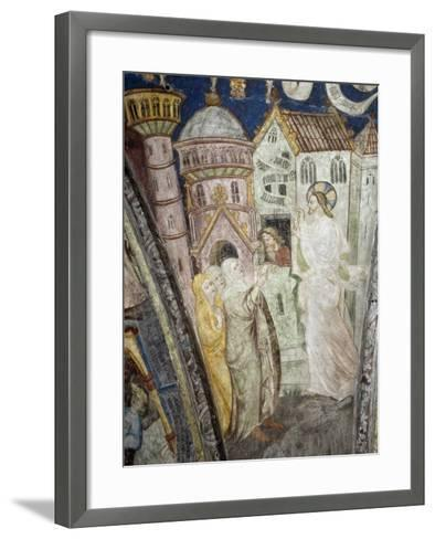 Teachings of Christ, Instructing Clerics, Fresco, Cloister, Santa Maria Assunta and San Cassiano--Framed Art Print