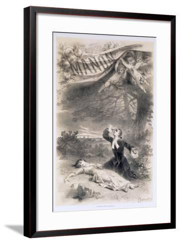 France, Paris, Playbill by Antonin Marie Chatiniere of the Opera Manon--Framed Art Print