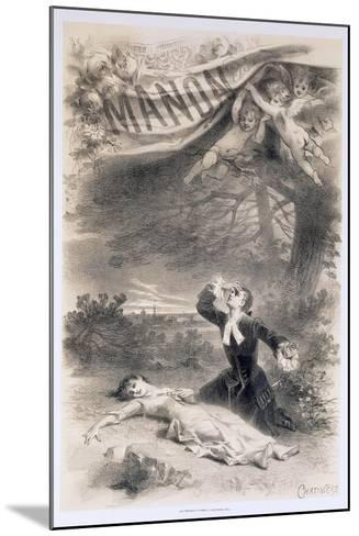 France, Paris, Playbill by Antonin Marie Chatiniere of the Opera Manon--Mounted Giclee Print