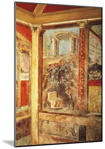 Detail of Fresco Depicting View of Palaces, from Passage in Roman Villa in Boscoreale--Mounted Giclee Print