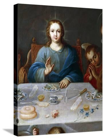 Young Jesus, Detail from the Blessing of the Food, Painting Attributed to Jose De Alcibar--Stretched Canvas Print
