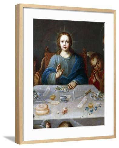 Young Jesus, Detail from the Blessing of the Food, Painting Attributed to Jose De Alcibar--Framed Art Print