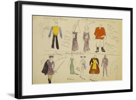 Sketches for Madman and Nun and New Deliverance, Dramas by Stanislaw Ignacy Witkiewicz--Framed Art Print