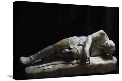 Statue of Dying Persian, Roman Copy in Marble from Original Made by School of Pergamon--Stretched Canvas Print