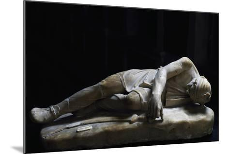 Statue of Dying Persian, Roman Copy in Marble from Original Made by School of Pergamon--Mounted Giclee Print