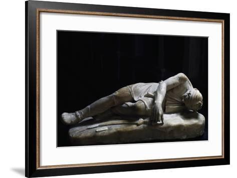 Statue of Dying Persian, Roman Copy in Marble from Original Made by School of Pergamon--Framed Art Print
