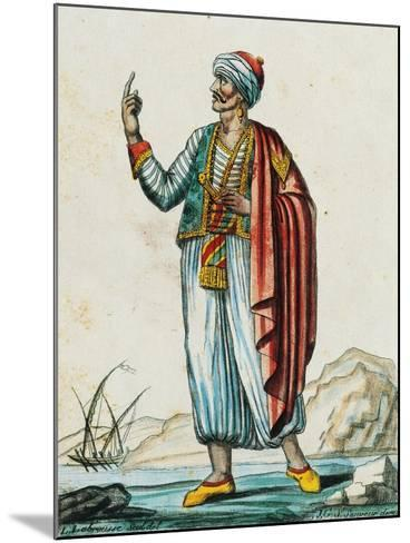 Male Costume from Barbarian and Muslim States, Color Engraving from Drawing by Labrousse--Mounted Giclee Print