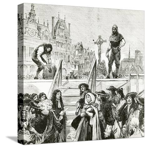 Affair of the Poisons, the Beheading of Marie-Madeleine D'Aubray, Marquise De Brinvilliers--Stretched Canvas Print