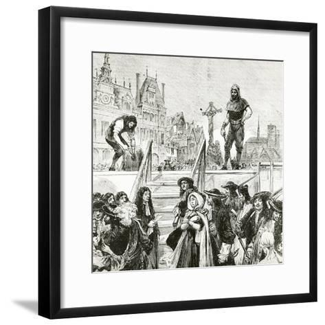 Affair of the Poisons, the Beheading of Marie-Madeleine D'Aubray, Marquise De Brinvilliers--Framed Art Print
