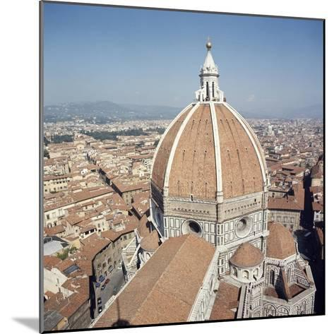 Brunelleschi's Dome in Cathedral of Santa Maria Del Fiore or Basilica of St Mary of Flower--Mounted Giclee Print