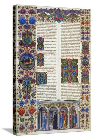 The Letter of James, Second Volume of Bible of Borso D'Este--Stretched Canvas Print