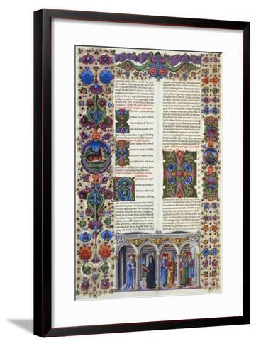 The Letter of James, Second Volume of Bible of Borso D'Este--Framed Art Print