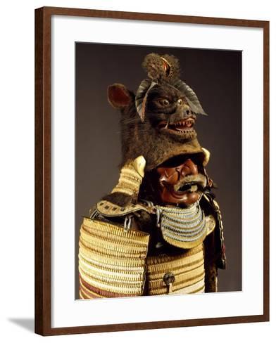 Iroiro Kebiki Odoshi Nimai-Do Gusoku, Samurai Armor with Helmet from Previous Era, Edo Period--Framed Art Print