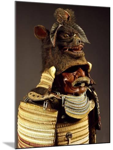 Iroiro Kebiki Odoshi Nimai-Do Gusoku, Samurai Armor with Helmet from Previous Era, Edo Period--Mounted Giclee Print