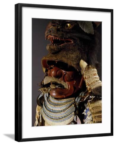 Iroiro Kebiki Odoshi Nimai-Do Gusoku, Samurai Armor with Helmet from Previous Era, Edo Period--Framed Art Print