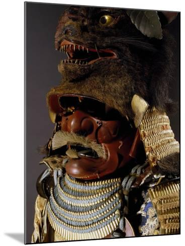 Iroiro Kebiki Odoshi Nimai-Do Gusoku, Samurai Armor with Helmet from Previous Era, Edo Period--Mounted Giclee Print