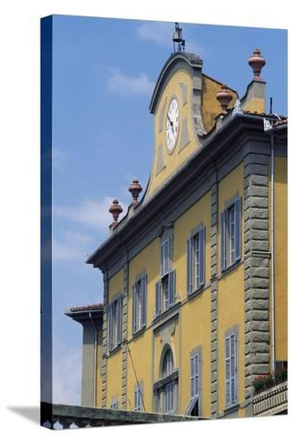 Upper Part of Facade of Palazzo Delle Terme Built to Design by Architect Ignazio Pellegrini--Stretched Canvas Print