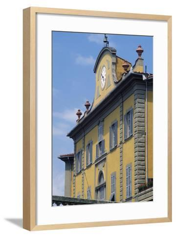 Upper Part of Facade of Palazzo Delle Terme Built to Design by Architect Ignazio Pellegrini--Framed Art Print