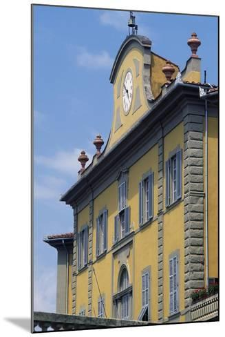 Upper Part of Facade of Palazzo Delle Terme Built to Design by Architect Ignazio Pellegrini--Mounted Giclee Print