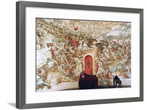 Uprising Against the Ottoman Empire. Memorial Wall Dedicated to George Kastrioti Skanderbeg--Framed Art Print