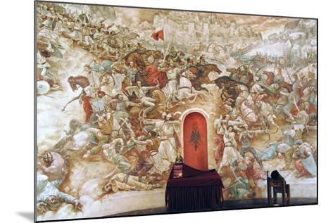 Uprising Against the Ottoman Empire. Memorial Wall Dedicated to George Kastrioti Skanderbeg--Mounted Giclee Print