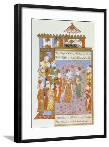 Mevlana Warns His Son, Sultan Veled, About Sin, Ottoman Miniature from Mevlana Rumi's Memoirs--Framed Art Print