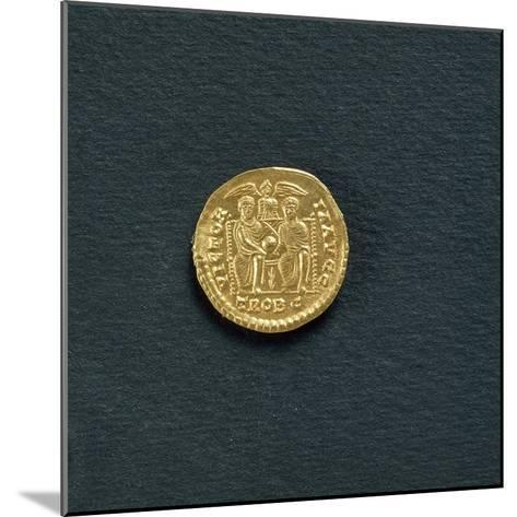 Solidus of Emperor Valentinian I from 367 A.D, Coin Reverse with Emperors Valentinian--Mounted Giclee Print