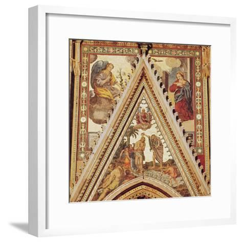 Detail from a Portico on the Facade of Orvieto Cathedral, Depicting the Baptism of Christ--Framed Art Print