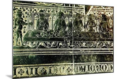 The Peacock Feast for King Edward III in 1349, Detail from Brass to Robert Braunche, 1364--Mounted Giclee Print