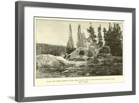 The Grotto Geyser in the Upper Geyser Basin of the Yellowstone National Park--Framed Art Print
