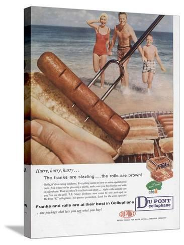 Advertisement for Dupont Cellophane, Page from 'The Du Pont Magazine', 1958--Stretched Canvas Print