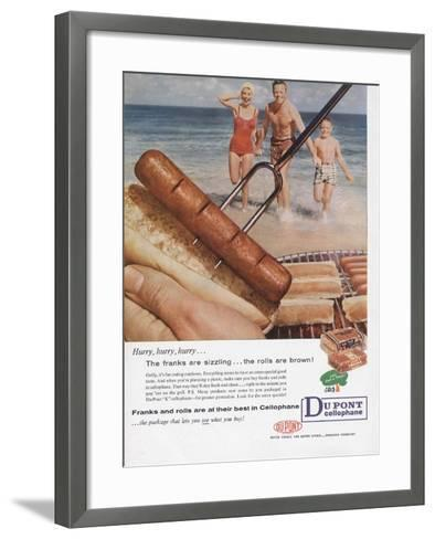 Advertisement for Dupont Cellophane, Page from 'The Du Pont Magazine', 1958--Framed Art Print