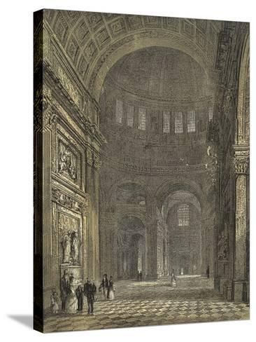 St Paul's Cathedral, Interior of the Dome, Looking Towards the Northern Transept--Stretched Canvas Print