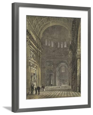 St Paul's Cathedral, Interior of the Dome, Looking Towards the Northern Transept--Framed Art Print