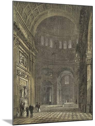 St Paul's Cathedral, Interior of the Dome, Looking Towards the Northern Transept--Mounted Giclee Print