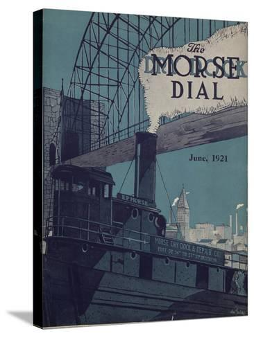 Tug E.P. Morse on Salvaging Cruise, Front Cover of the 'Morse Dry Dock Dial', June 1921--Stretched Canvas Print