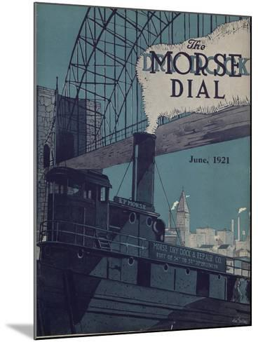 Tug E.P. Morse on Salvaging Cruise, Front Cover of the 'Morse Dry Dock Dial', June 1921--Mounted Giclee Print