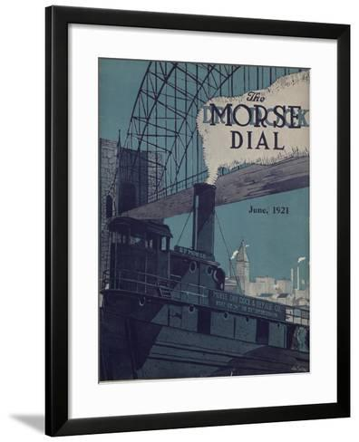 Tug E.P. Morse on Salvaging Cruise, Front Cover of the 'Morse Dry Dock Dial', June 1921--Framed Art Print