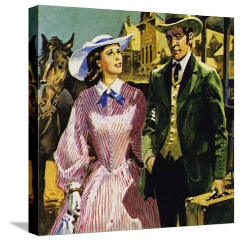 Audubon Moved to America Where He Fell in Love with Lucy Bakewell and Married--Stretched Canvas Print