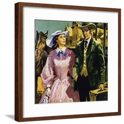 Audubon Moved to America Where He Fell in Love with Lucy Bakewell and Married--Framed Art Print