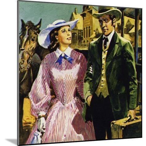 Audubon Moved to America Where He Fell in Love with Lucy Bakewell and Married--Mounted Giclee Print