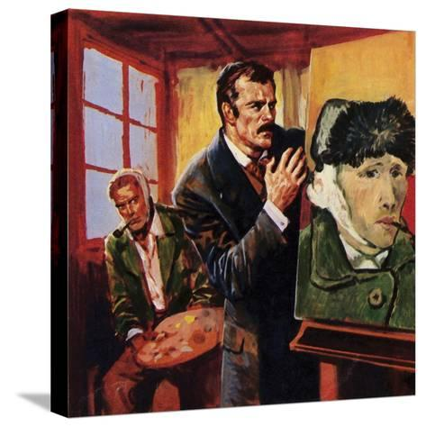 Vincent Van Gogh Wounded His Own Ear - Famously Painting a Portrait of Himself in Bandages--Stretched Canvas Print