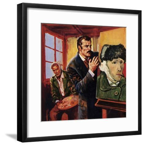 Vincent Van Gogh Wounded His Own Ear - Famously Painting a Portrait of Himself in Bandages--Framed Art Print