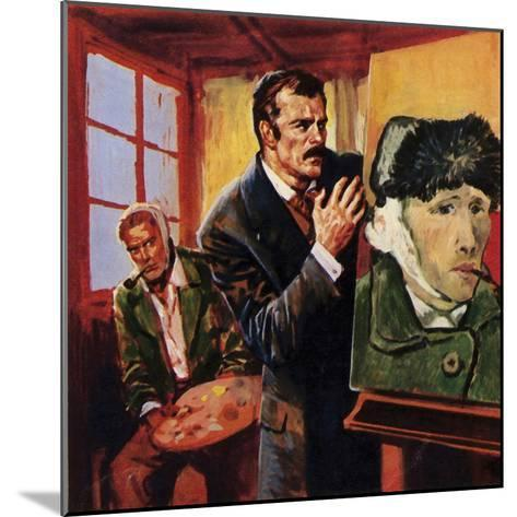 Vincent Van Gogh Wounded His Own Ear - Famously Painting a Portrait of Himself in Bandages--Mounted Giclee Print