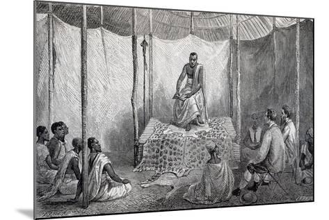 King Kamrasi, Uganda, Engraving from Source of Nile, Diary of Voyage of Captain John Hanning Speke--Mounted Giclee Print