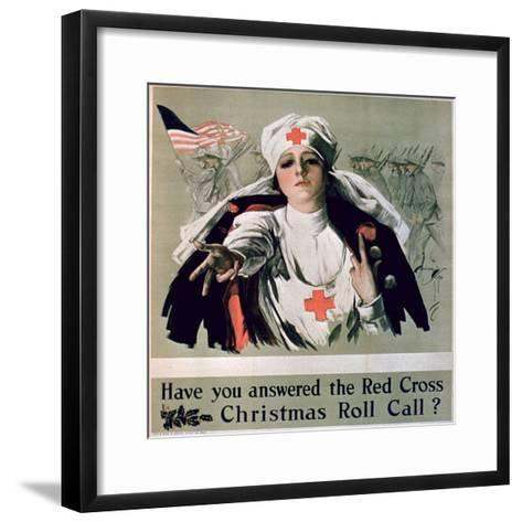Have You Answered the Red Cross Christmas Roll Call?', 1st World War Poster--Framed Art Print