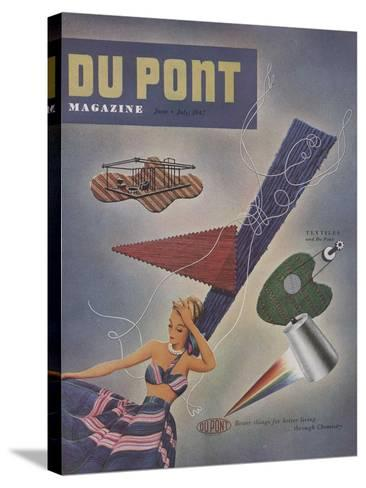 Textiles and Du Pont, Front Cover of 'The Du Pont Magazine', June-July 1947--Stretched Canvas Print