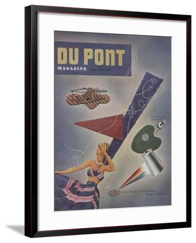 Textiles and Du Pont, Front Cover of 'The Du Pont Magazine', June-July 1947--Framed Art Print