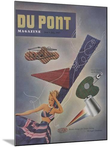 Textiles and Du Pont, Front Cover of 'The Du Pont Magazine', June-July 1947--Mounted Giclee Print