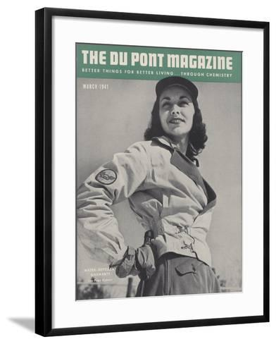 Water-Repellent Garments, Front Cover of 'The Du Pont Magazine', March 1941--Framed Art Print